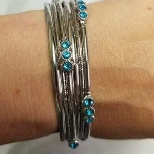 🔥2/$30🔥Stackable Sparkle Blue Bracelet